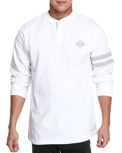 Enyce - Men White Griffin L/S Henley - $22.99