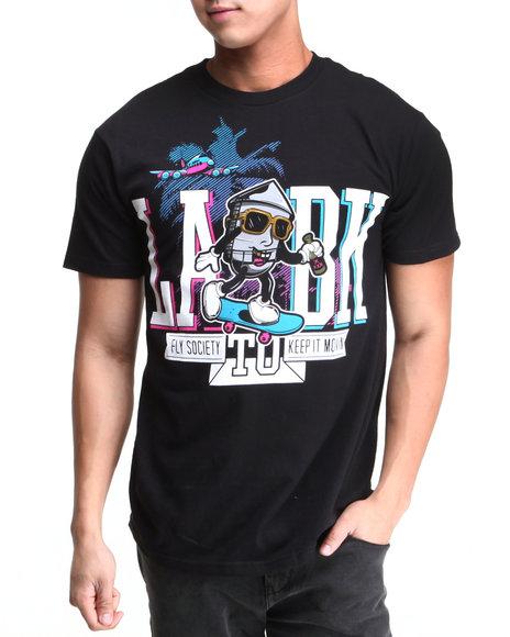 Flysociety Black Coast To Coast T-Shirt