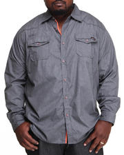 MO7 - Special Wash L/S Button Down Shirt (B&T)