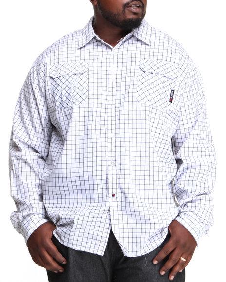 Enyce White Edward L/S Button-Down (Big & Tall)