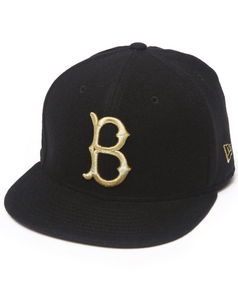 New Era - Men Black Brooklyn Dodgers 59Th Anniversary Cashmere 5950 Fitted Hat