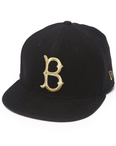 New Era - Men Black Brooklyn Dodgers 59Th Anniversary Cashmere 5950 Fitted Hat