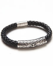 Buyers Picks - Stainless Steel Braided Leather Bracelet