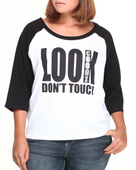 Coogi - Women White Look Don't Touch Tee (Plus)