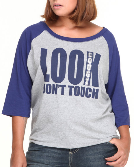 COOGI - Women Grey Look Don't Touch Tee (Plus)