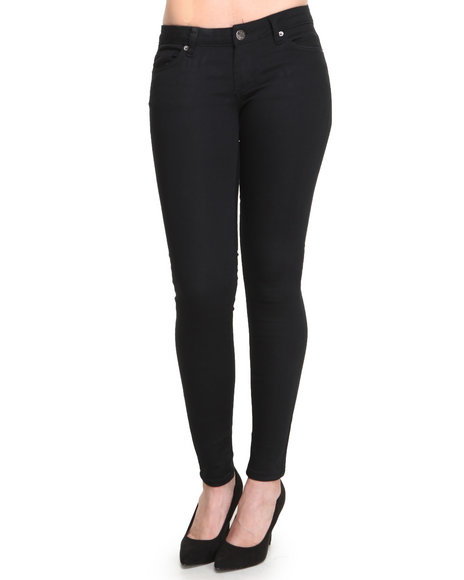 Basic Essentials Women Skinny Jean Pants Black 5