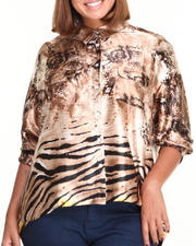 Tops - High Low Animal Printed (plus)