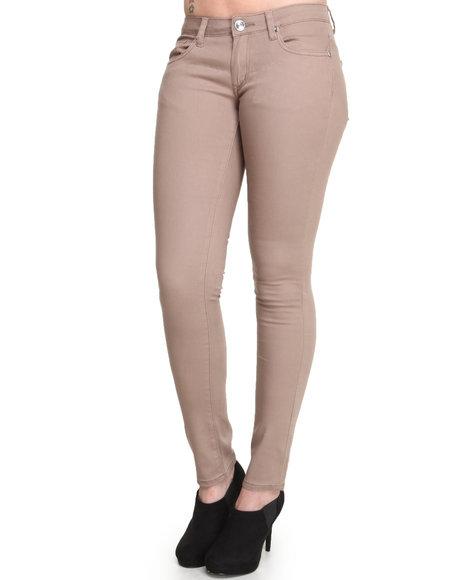 Basic Essentials - Women Cream Skinny Jean Pants