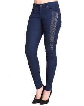 Basic Essentials - Skinny Super Stretch Jean Pants w/studs