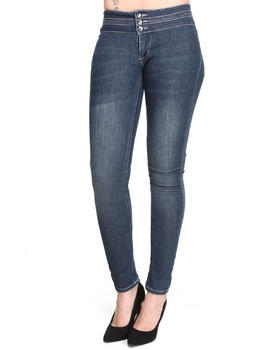 Basic Essentials - Skinny Jean Pants w/ Stud Detail