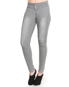 Basic Essentials - Skinny Jean Pants w/ Stud Detail