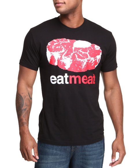 Enjoi Black Eat Meat Premium Tee