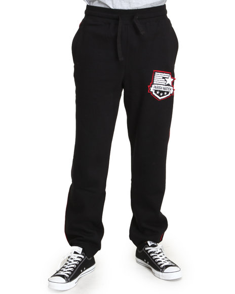Parish - Men Black Fleece Sweatpants