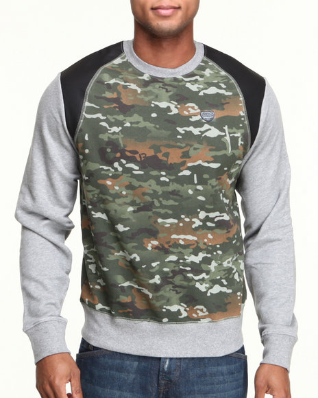 Parish Olive Machete Crewneck Fleece Sweatshirt