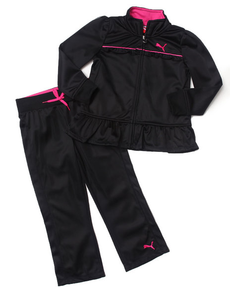 Puma Girls Black Peplum Tricot Set (4-6X)