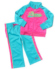 Girls - COLOR BLOCK TRICOT SET (2T-4T)