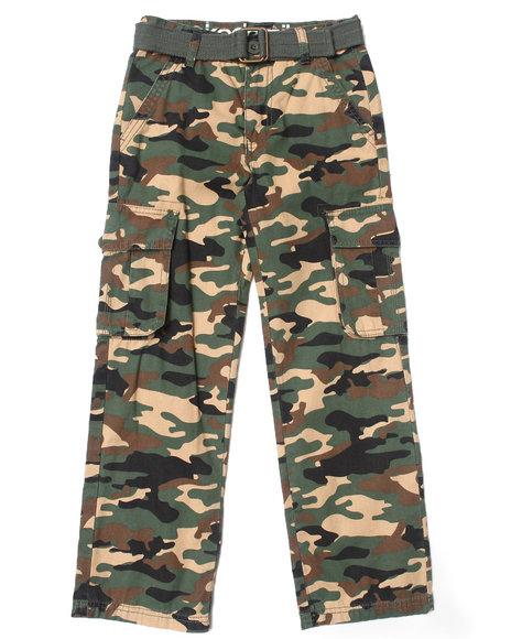 Akademiks - Boys Camo Belted Camo Cargo Pants (8-20)