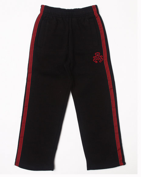 Akademiks - Boys Black Signature Fleece Pants (4-7)