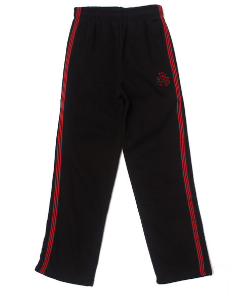 Akademiks - Boys Black Signature Fleece Pants (8-20)