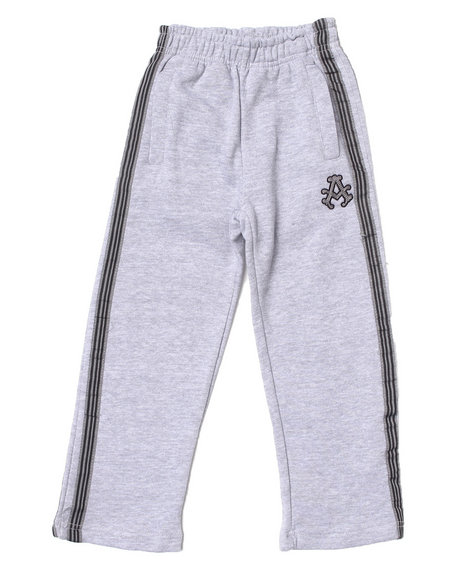 Akademiks - Boys Light Grey Signature Fleece Pants (4-7)