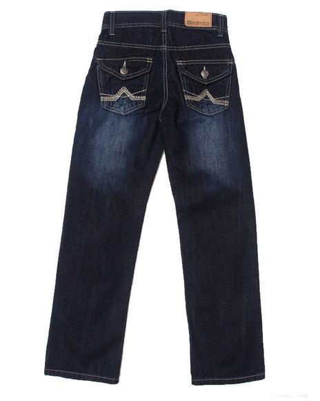 Akademiks - Boys Dark Wash Flap 5-Pocket Jeans (8-20)