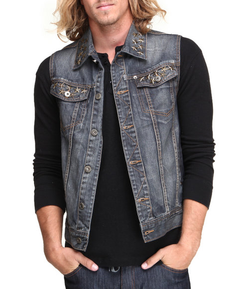 Parish Dark Blue Berm Denim Vest