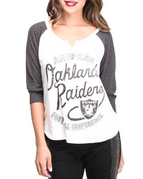 Junk Food - Oakland Raiders Rookie Raglan Tee