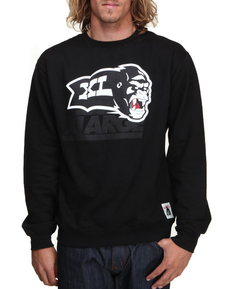 X-LARGE Black Beast Mode Crew Fleece Sweatshirt