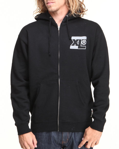 X-LARGE Black Beast Mode Zipped Hoodie