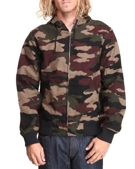 Dickies - Men Camo Sanded Thermal Lined Hooded Jacket