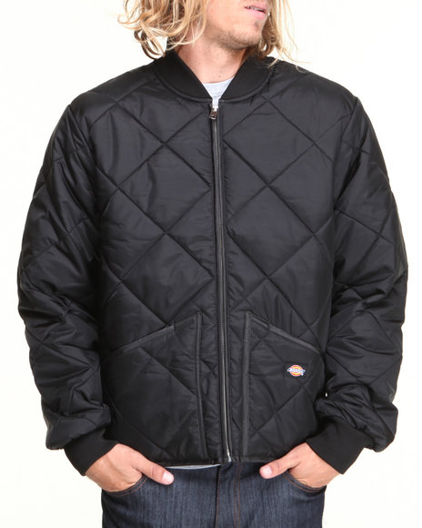 Dickies - Men Black Quilted Nylon Jacket
