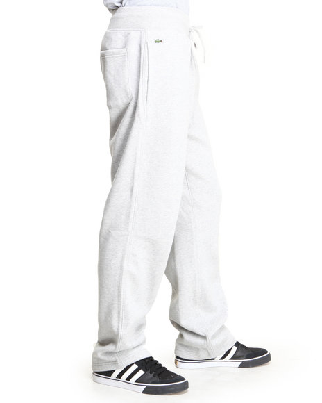 Lacoste Grey Glc Open Bottom Drawstring Pants