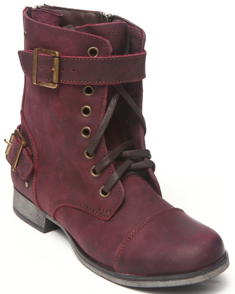 DV by Dolce Vita Maroon Sargeant Combat Boot