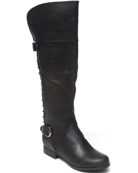 Not Rated - Women Black Frontline Boot With Back Studded Detail