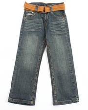 Bottoms - BELTED FAN POCKET JEANS (4-7)