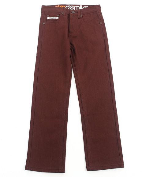 Akademiks - Boys Maroon Signature Colored Rolodex Jeans (8-20)