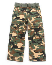 Sizes 4-7x - Kids - BELTED CAMO CARGO PANTS (4-7)