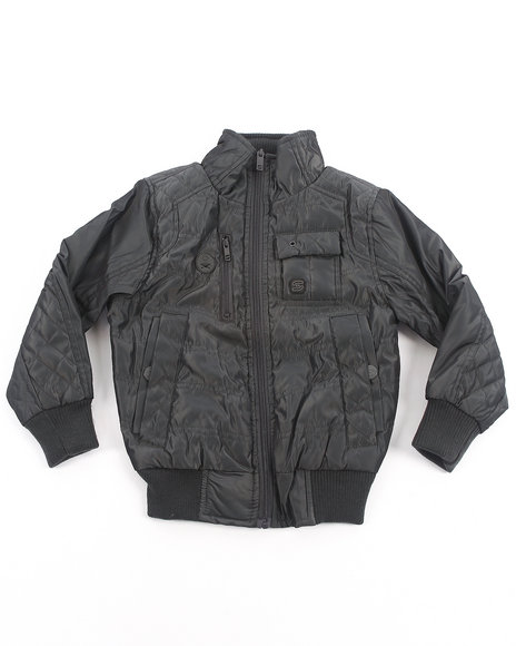 Arcade Styles - Boys Grey Mr. Smooth Nylon Jacket (4-7)