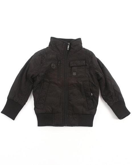 Arcade Styles Boys Black Mr. Smooth Nylon Jacket (2T-4T)