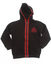 Sweatshirts - SIGNATURE FLEECE FULL ZIP HOODY (4-7)