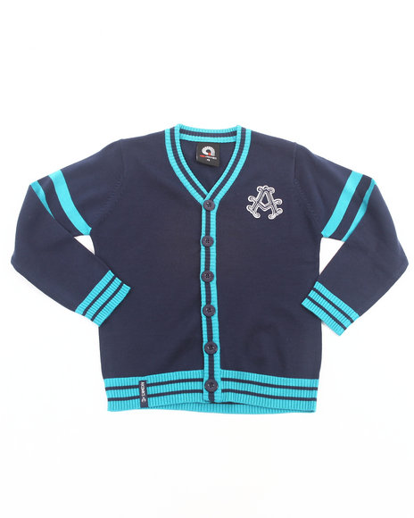 Akademiks - Boys Navy Aka Cardigan (4-7)