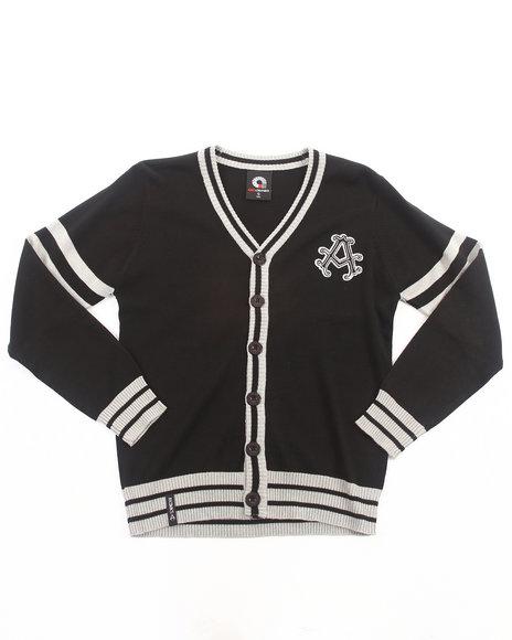 Akademiks Boys Black Aka Cardigan (8-20)