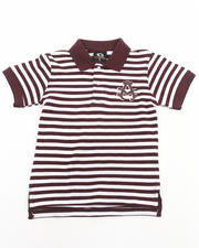 Boys - STRIPED PIQUE POLO (4-7)