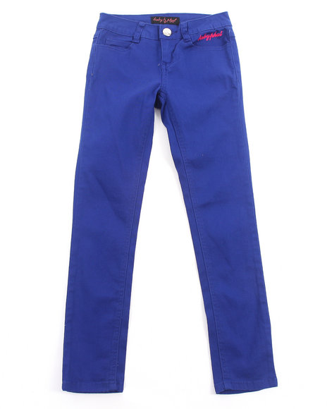 Baby Phat - Girls Blue Colored Twill Jeans (7-16)