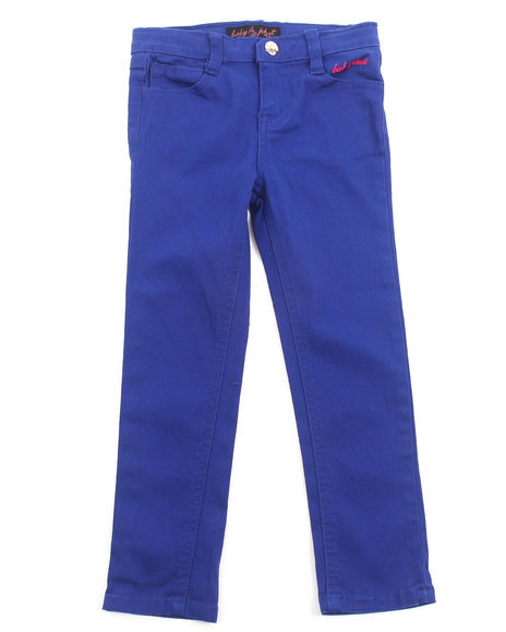 Baby Phat Girls Blue Colored Twill Jeans (4-6X)