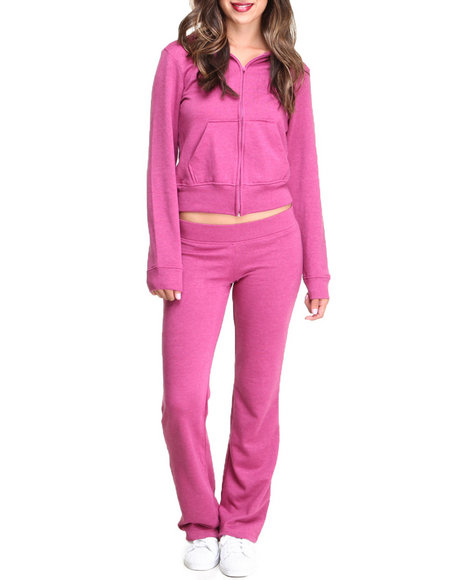 Basic Essentials - Women Pink French Terry Lounge Set