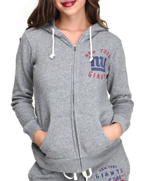 Junk Food - Women Grey Ny Giants Sunday Hoodie