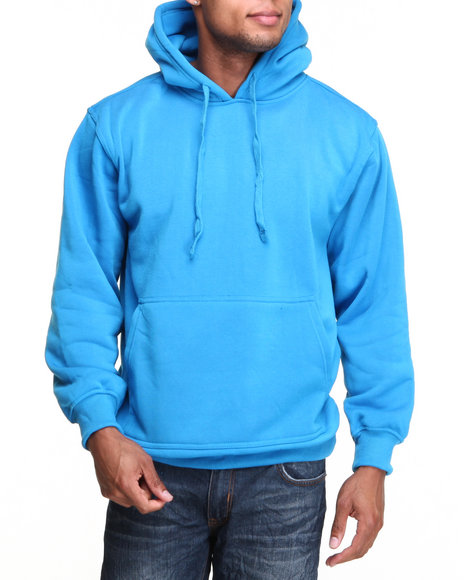 Basic Essentials - Men Teal Pullover Hoodie