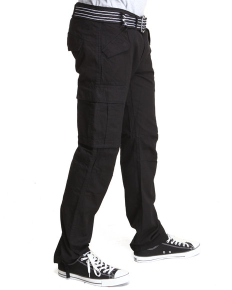Rocawear - Men Black Trooper Straight Fit Cargo Pants