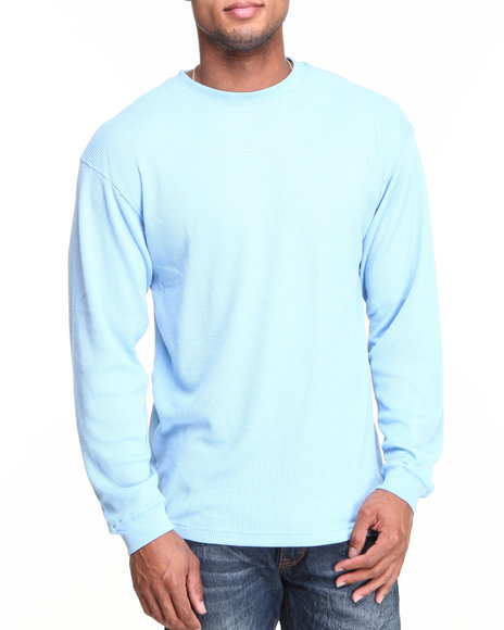Basic Essentials - Men Light Blue Heavy Long Sleeve Thermal Top